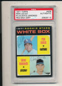 1971 topps card Signed #458 Ron Lolich & dave Lemonds psa/dna