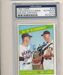 1966 topps card Signed #156 Dick Schofield Hal Lanier psa/dna