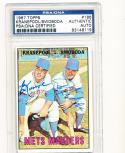 1967 topps card Signed #186 Ed Kranepool Ron Swoboda Mets psa/dna