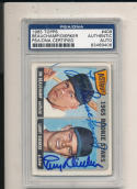 1965 topps card Signed #409 Larry Dierker Jim Beauchamp astros psa/dna