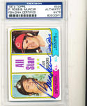 1974 topps card Signed #336 Pete Rose Bobby Murcer psa/dna