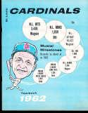 1962 St Louis Cardinals Baseball Yearbook ex  bx12.6