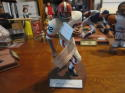 Hall Of Fame Jim Brown Autographed Salvino figurine,White Uniform no helmet.