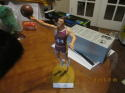 Jerry West Los Angeles Lakers purple jersey Signed large Salvino Statue