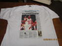 1994 6/22 Houston Chronicle Rockets Champions!  Hakeem Olajuwon Large XL T-shirt