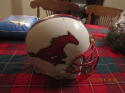 1996 SMU full size game used Riddell helmet #61