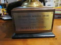 1986 Marcus Cotton USC Varsity Defensive Player of the Year Award