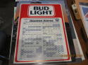 1985 Bud Light Houston Astros Baseball Schedule Sign thick em