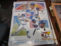 1986 Texas Rangers Schedule Poster Lite Beer bobby Valentine & others