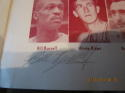 1957 12/27  Boston Celtics Bill Russell first year Signed basketball program rare!