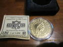 Philadelphia Eagles 2003 official Game coin 1/5000 24 k gold overlay medallion