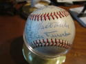 1961 Los Angeles dodgers Team Signed Baseball 29 signatures