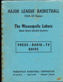1959 Minneapolis Lakers Press Radio media Guide Elgin Baylor Rookie!