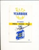 1968 - 1969 Golden State Warriors NBA signed guide 4 HoF's NBA3