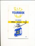 1968 - 1969 Golden State Warriors NBA signed guide 4 HoF's