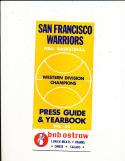 1967 - 1968 Golden State Warriors NBA guide em
