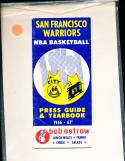 1966 - 1967 Golden State Warriors NBA guide vg NBA3