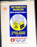 1966 - 1967 Golden State Warriors NBA guide vg
