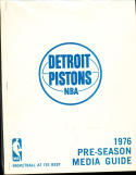 1976 Detroit Pistons Pre season Press Media Guide em NBA3
