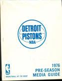1976 Detroit Pistons Pre season Press Media Guide clean copy