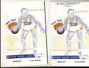 1966 -1967 New York Knicks Basketball press radio TV guide (signed)