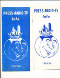 1957 - 1958 Cincinnati Royals Basketball press radio TV guide NBA3