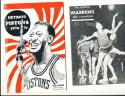 1956 - 57 Philadelphia Warriors Basketball press radio TV guide (only listed)