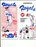 1962 - 1963 Cincinnati Royals Basketball press radio TV guide (only listed)
