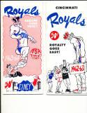 1962 - 1963 Cincinnati Royals Basketball press radio TV guide (only listed)