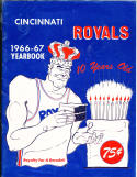 1966 - 1967 Cincinnati Royals Basketball Yearbook