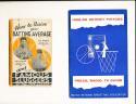 1934 Famous Sluggers Louisville Yearbook Lou Gehrig & Paul Waner ex