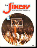 1977 Philadelphia Sixers Yearbook em Dr. J