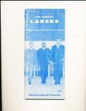 1965 Los Angeles Lakers radio tv Press guide back tear