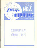 1972 NBA All Star Game Los Angeles Lakers radio tv Press guide NBA3