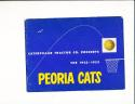 1952 Peoria cats basketball Guide