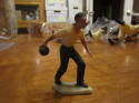 1950's male bowler with white base hartland plastic