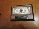 Don Mattingly NY Yankees One-Dollar Bill baseball plaque, 1995