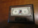Don Mattingly Super Star One-Dollar Bill baseball plaque, 1995