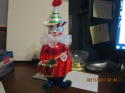 Soffieria De Carlini Italy Clown with drum NM Tag Christmas Ornament