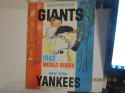 1962 World Series Giants (hm) vs New York Yankees Baseball program unscored a1