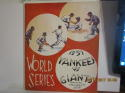 1937 World Series New York Giants vs New York Yankees (hm) Baseball program scored