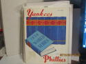 1950 World Series program Yankees vs Phillies opie reprint