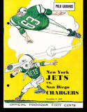 11/2 1963 New York Jets vs San Diego Chargers AFL Football Program (punched)