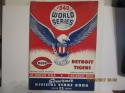 1940 World Series Cincinnati Reds vs Detroit Tigers program (scored)