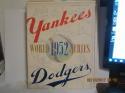 1952 World Series New York Yankees vs Brooklyn Dodgers baseball program