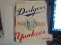 1952 World Series Brooklyn Dodgers vs New York Yankees Baseball program b1