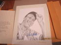 Bob Feller Indians lithograph Signed Score Board Jerry Hersch 8x10