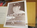 Don Larsen Yankees no hitter lithograph Signed Score Board Jerry Hersch 8x10