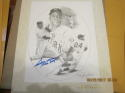 Willie Mays Giants lithograph Signed Score Board Jerry Hersch 8x10