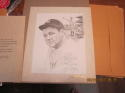 Babe Ruth Yankees lithograph by Score Board Jerry Hersch 8x10